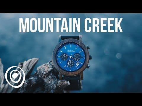 Wood Watch By Holzkern: 'Mountain Creek' | Holzuhr 'Gebirgsbach'