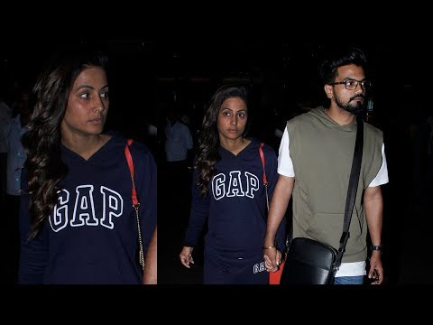 Hina Khan In No Make Up Look Snapped At Airport