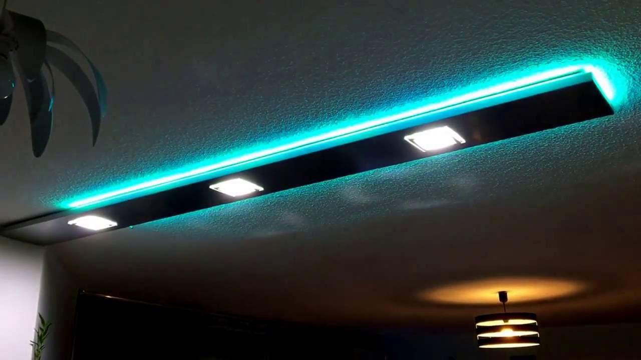 Bandeau Led Encastrable Plafond bandeau de bar en aluminium avec spot led encastrable et