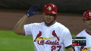 SF@STL: Peralta singles in return from disabled list