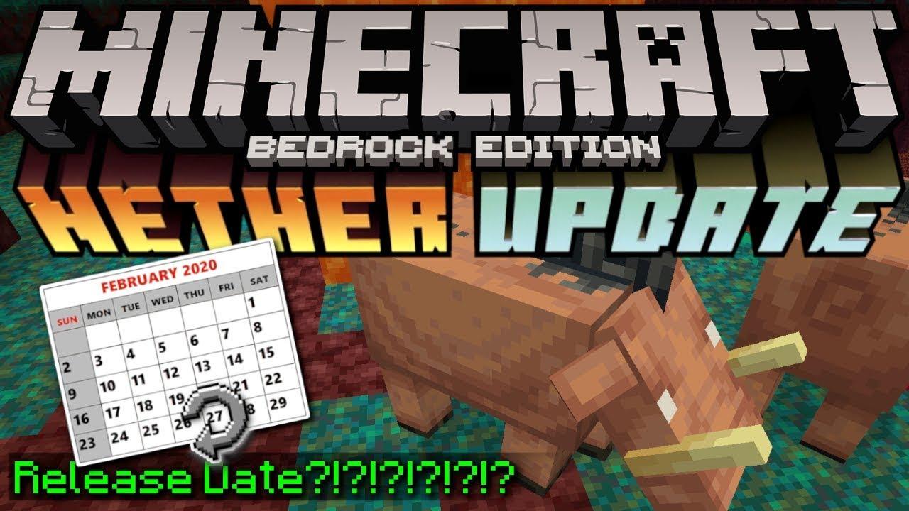 Minecraft Bedrock - NETHER UPDATE - BETA RELEASE DATE?!?! Really ?! MCPE ,  Xbox , Windows
