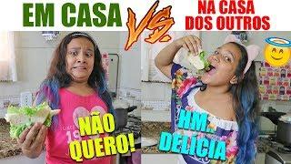 EM CASA VS NA CASA DOS OUTROS! - JULIANA BALTAR