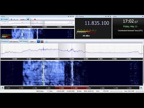 11 05 2018 Sri Lanka Broadcasting Corporation in Tamil to SoAs 1702 on 11835 Trincomalee