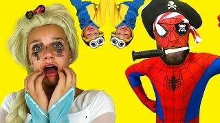 Elsa vs. Spiderman vs. Maleficent in  funny PRANK Superhero Movie In Real Life in 4K