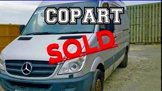 Winning the bid at Copart online Salvage Auction / Mercedes sprinter / Van life UK