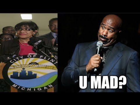 Steve Harvey tells Flint resident to 'enjoy their brown water;' mayor DEMANDS an apology!