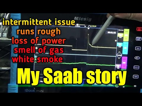 Saab 9-3T - intermittent rough running, smell of gas, injectors staying on