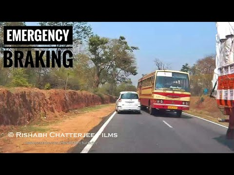 Kerala State RTC Bus close call with a Car!!!