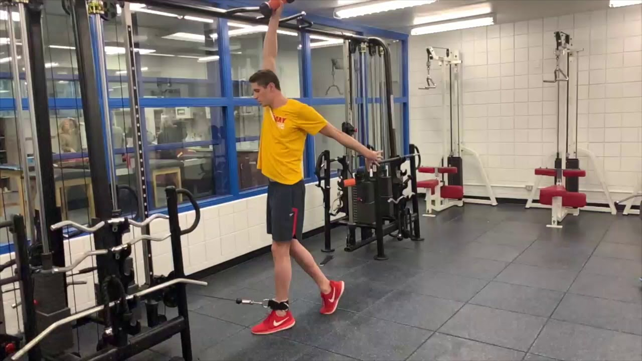 Exercise of the week - Pendulum to overhead with hip extension