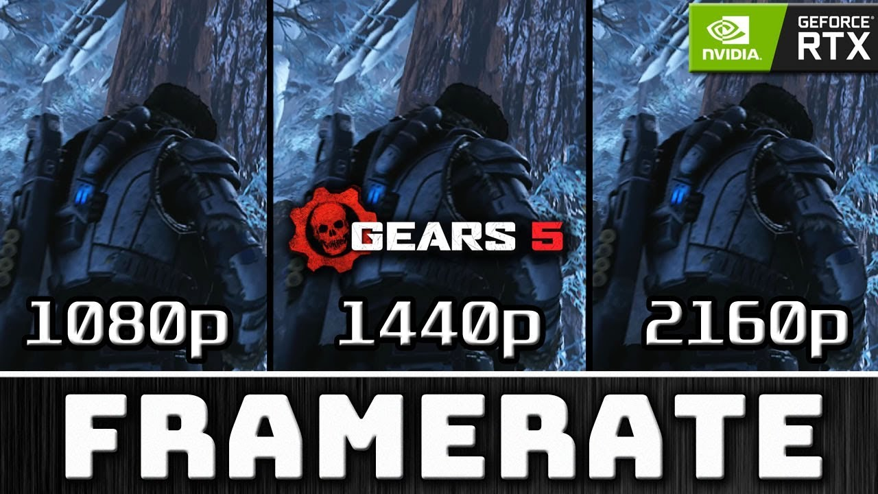 Gears 5 | 1080p vs 1440p vs 2160p | Full Benchmark on 2080 Ti