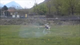 Prove di Volo elicottero radiocomandato Gravellona Toce Verbania 2015 le Cupole