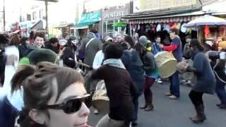 Maracatu on Halloween at Kensington Market Pedestrian Sunday