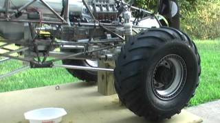 1/4 Scale Grave Digger Part 22 with Stinger 609 - First run.