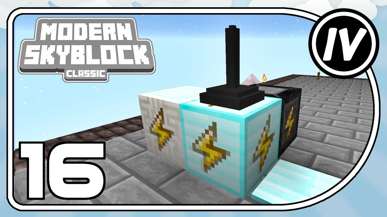 Modern Skyblock: Classic - Ep 14 - Automated Crushing & Cleaning