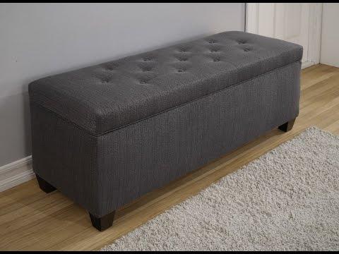 Fascinating Gray Storage Bench Ideas