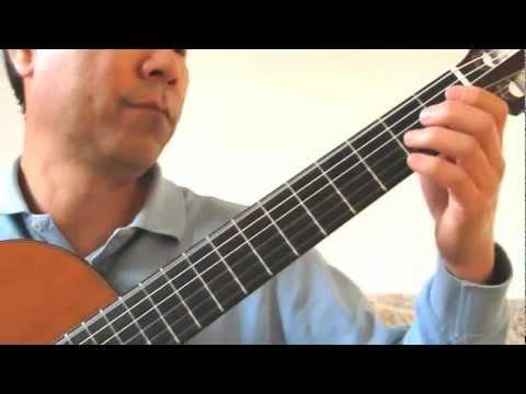 Paganini Guitar Sonata  Op.3 No.6 모래시계 주제곡 - Arr by  Manuel Barrueco