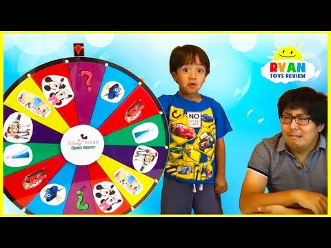 Ryan plays Disney Quiz Show and Nick Jr Spin Wheels Games