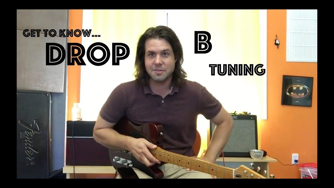 guitar lesson how to tune your guitar to drop b youtube. Black Bedroom Furniture Sets. Home Design Ideas