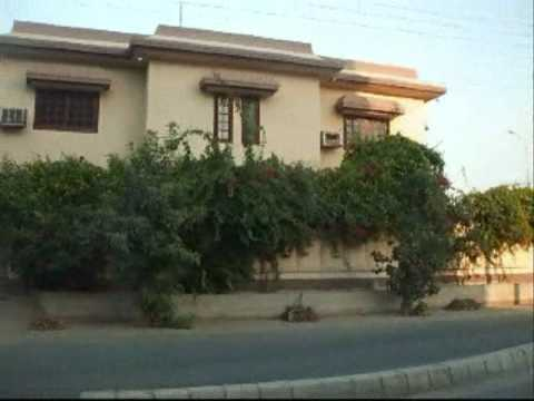 Pakistan trip 10. Drive through Defence in Karachi.