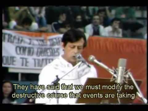 Silo acto publico pabellon de los deportes madrid espa a 1981 1 youtube - Pabellon de deportes madrid ...