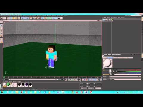Как сделать свой мультик minecarft с помощью программы Cinema 4D