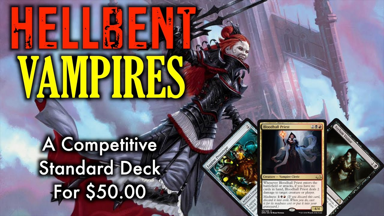 mtg hellbent vampires start playing standard with this budget deck for magic the gathering. Black Bedroom Furniture Sets. Home Design Ideas