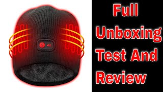 Windproof Heated Hat with Rechargeable Battery