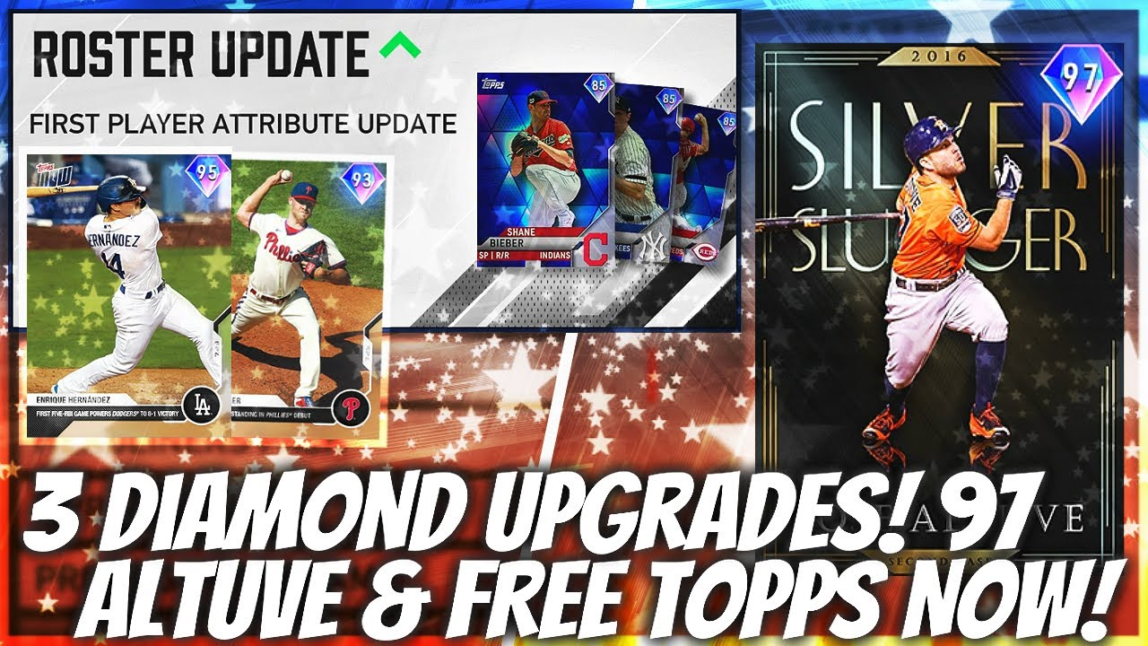 3 NEW Diamond Upgrades! 97 Altuve! 2 FREE Diamond Topps Now Cards! MLB The Show 20