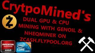 ZEC GPU & CPU Mining Genoil GPU Miner + nheqminer CPU Miner on zcash.flypool.org
