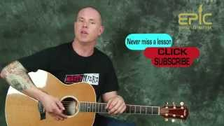 How to play Keith Urban Put You In A Song guitar lesson with chords strums modern country