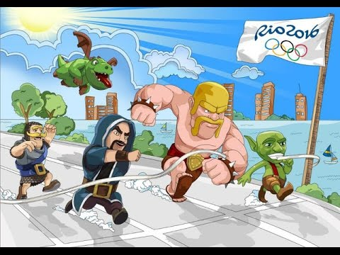 Clash Of Clans Olympics Games | All Troop Running | Clash Olympics