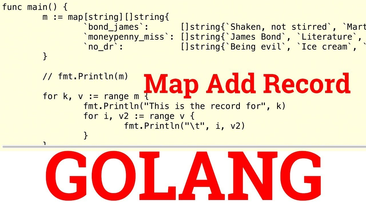 Hands-On Golang Exercise - Map Add Record on