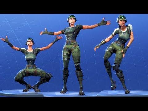 Fortnite TRAILBLAZER Performs All Dances - All SEASON 1-4 Dance Emotes [Twitch Prime Pack 2]