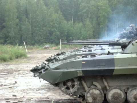 Bmp-2 tanks firing