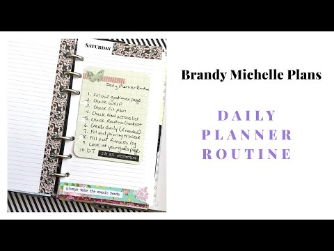 My Daily Planner Routine