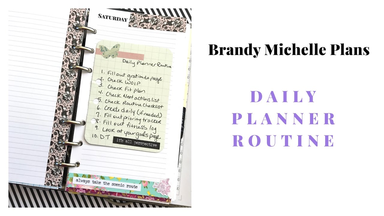 my daily planner routine youtube
