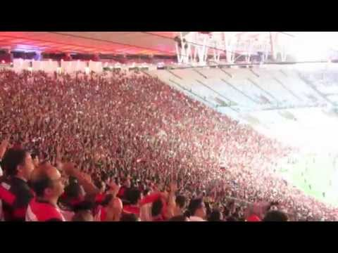 Great Torcida Show By Flamengo Supporters At Maracana (Rio De Janeiro)