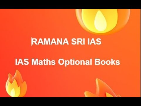 UPSC Maths Optional Books for IAS, Civil Service Mains Examinaitons