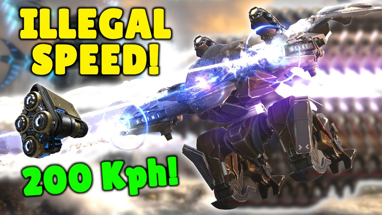 New ILLEGAL SPEED FAFNIR 200 KPH!!!! Fastest Robot In The Game | War Robots Nitro 7.1 Gameplay WR