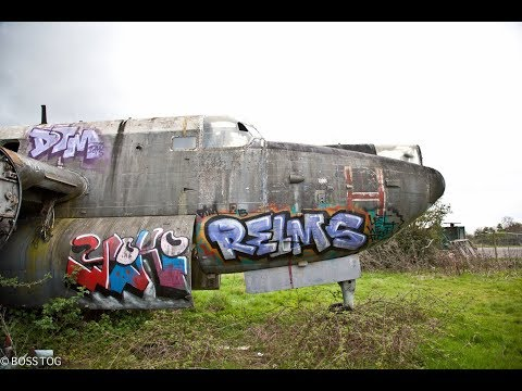 Abandoned Avro Shackleton Aircraft - Long Range Maritime Patrol Aircraft Boneyard Salvage Disused