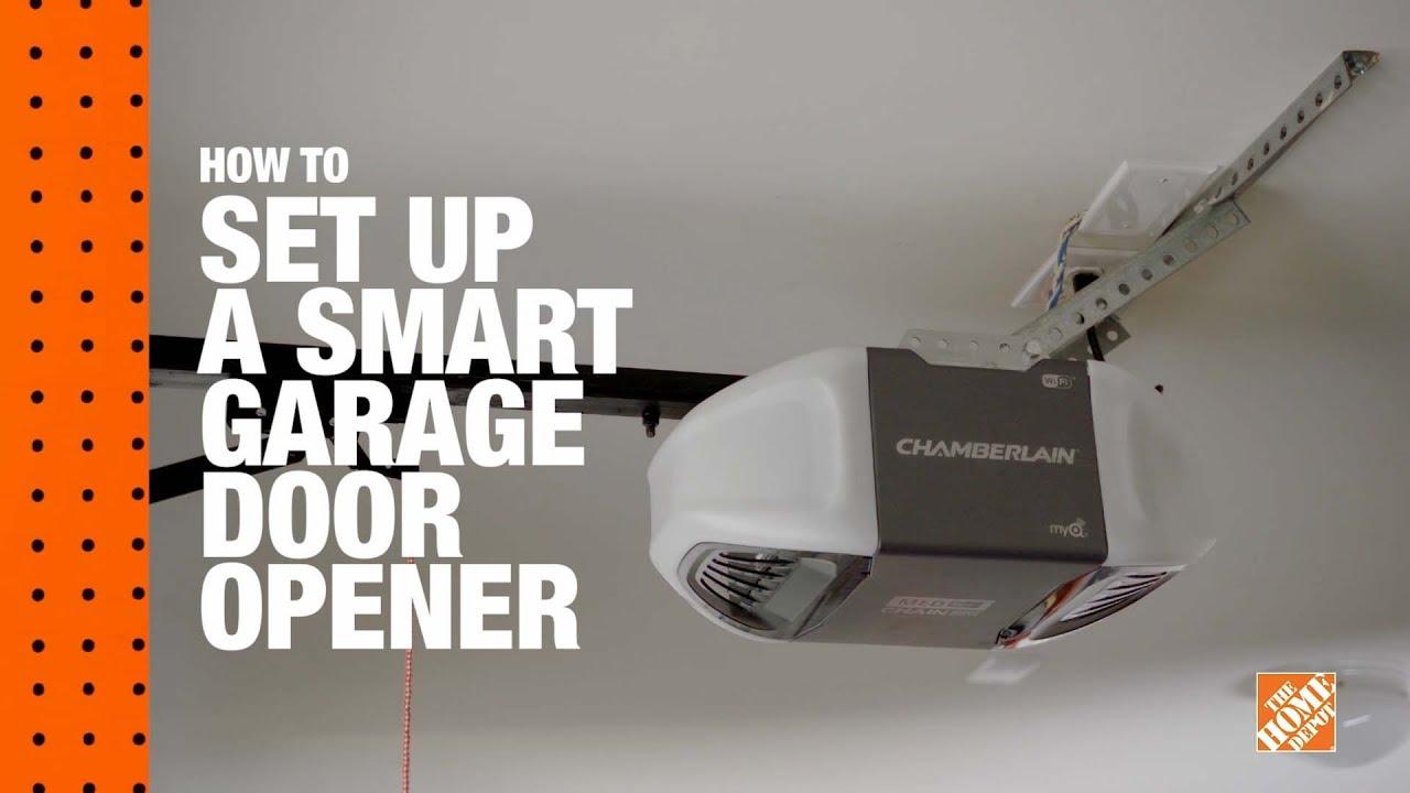 How to Install A Smart Garage Door Opener: A DIY Digital Workshop | The  Home Depot