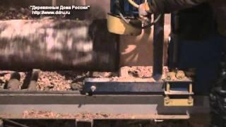 оцилиндрованное бревно(Технология изготовления оцилиндрованного бревна из сибирской лиственницы 1-ая часть фильма. Более подробн..., 2010-12-15T16:10:20.000Z)