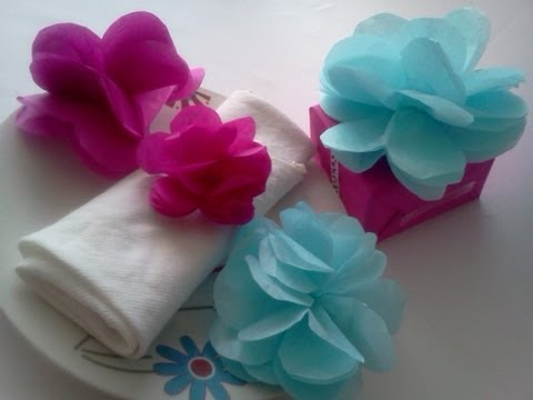 Flores De Papel De China D Youtube