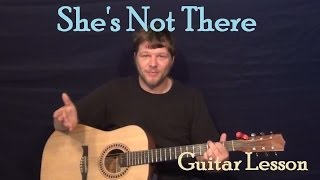 She's Not There (The Zombies) Easy Guitar Lesson How to Play Tutorial