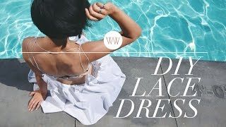 How to Make a Lace Beach Dress | WITHWENDY