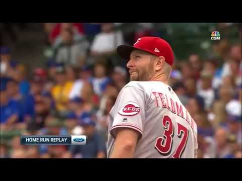 Cubs - Reds 8/17/17 - Cubs Comeback From a 9 - 0 Score With 3 HR's And 2 RBI's!