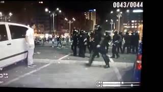 Protestatar pasnic lovit intentionat de jandarmi