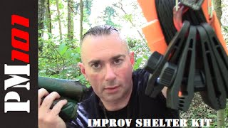 Improv Shelter Kit: Easy Tarp Shelter Setup Tools  - Preparedmind101