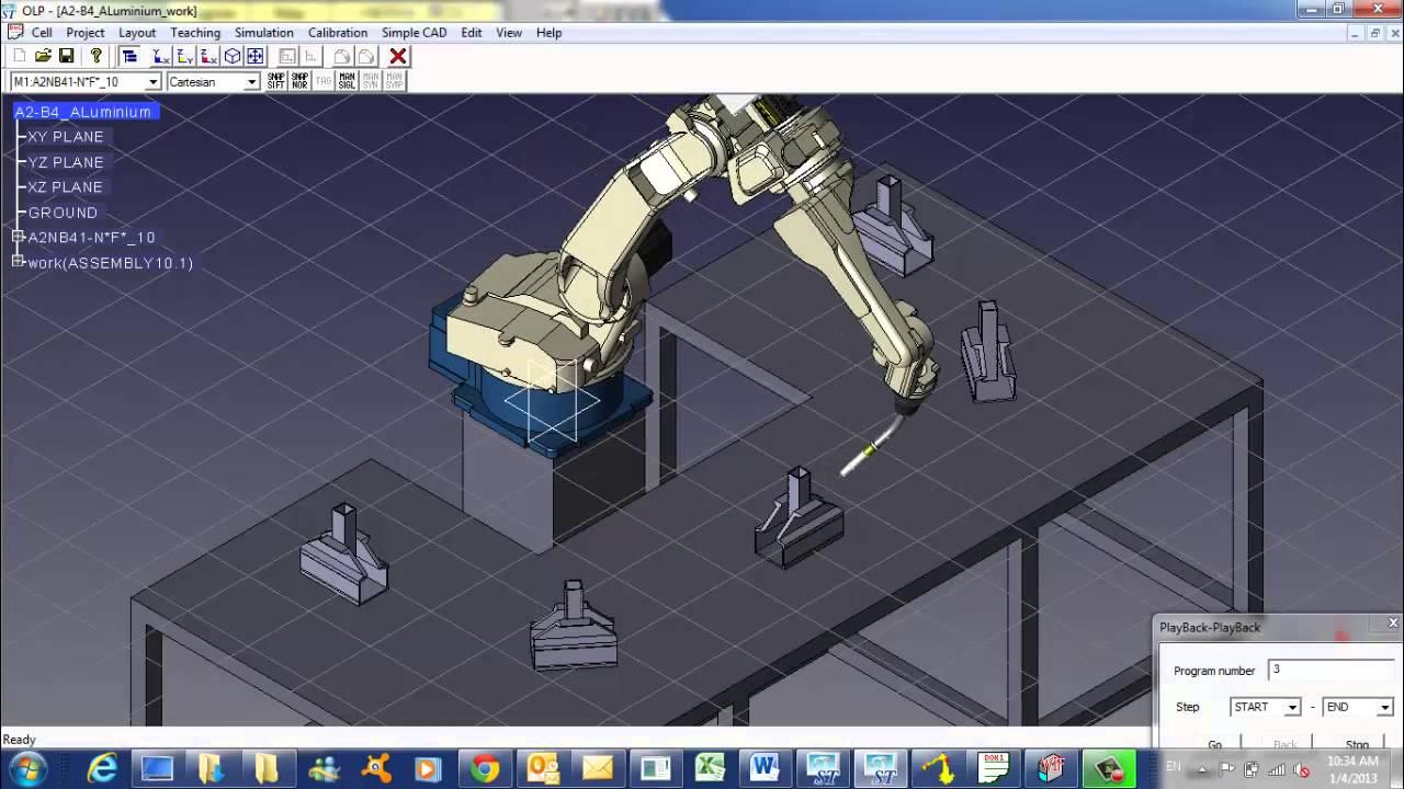 OTC Robot AIl Welding Simulation by Leeden Welding Sdn Bhd