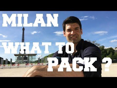 Packing tips for my Milan trip